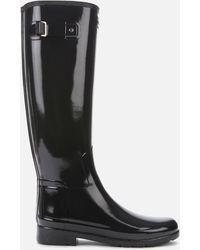 HUNTER Original Refined Gloss Tall Wellies - Black