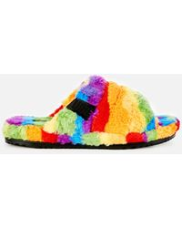 UGG Fluff You Pride Collection Slippers - Green