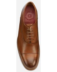 Grenson Bert Hand Painted Leather Toe Cap Oxford Shoes - Brown