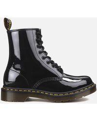 Dr. Martens 1460 Patent Lamper 8-eye Boots - Black