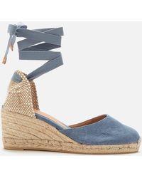 Castaner Carina Wedged Espadrille Sandals - Blue