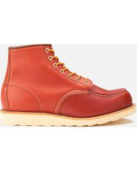 Red Wing - Men's 6 Inch Moc Toe Leather Lace Up Boots - Lyst