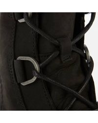 Sorel Joan Of Arctic Ii Waterproof Leather Wedged Boots - Black