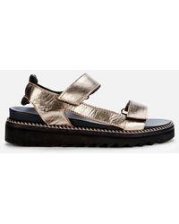 Whistles Sport Velcro Sandals - Metallic
