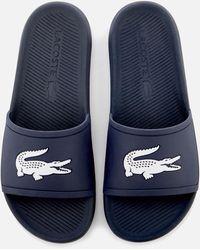 Lacoste Croco Slide Sandal - Blue