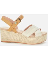 TOMS Shimmer Willow Wedges - Natural