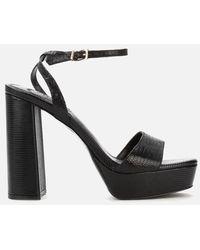 Dune Malin Suede Heeled Sandals - Black