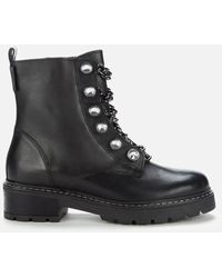 Kurt Geiger Bax 2 Leather Boots - Black