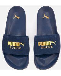 PUMA - Leadcat Suede Slide Sandals - Lyst