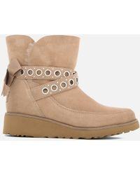 UGG - Alisia Short Suede Sheepskin Boots - Lyst