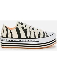Converse Chuck Taylor All Star Platform Layer Ox Sneakers - White