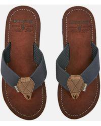 Barbour Toeman Rubber Flip Flops - Blue
