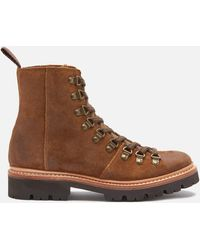 Grenson Nanette Suede Hiking Style Boots - Brown