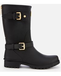 Barbour - Monza Buckle Biker Wellies - Lyst