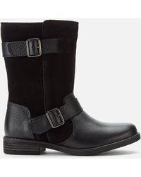Clarks Demi Flow Biker Boots - Black