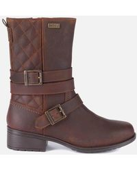 Barbour Garda Ankle Boots - Brown