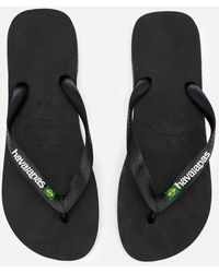 Havaianas - Brasil Logo Flip Flops - Lyst
