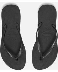 Havaianas Slim Flip Flops - Black