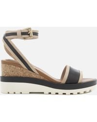 See By Chloé - Leather Wedged Sandals - Lyst