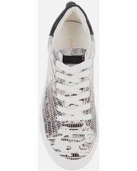 Kurt Geiger Laney Eagle Leather Flatform Sneakers - White