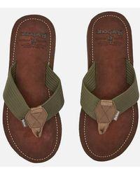 Barbour Toeman Beach Toe Post Sandals - Green