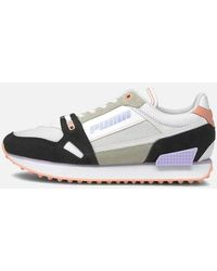 PUMA Mile Rider Power Play Running Style Trainers - Black