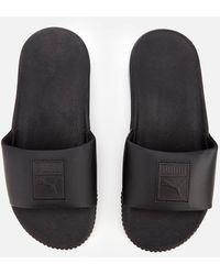 PUMA Platform Slide Sandals - Black