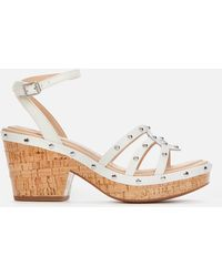 Clarks Maritsa70 Sun Platform Heeled Sandals - White