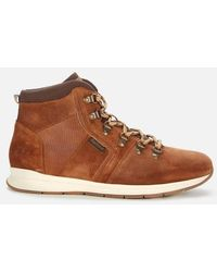 Barbour Mills Suede Hiking Style Boots - Brown