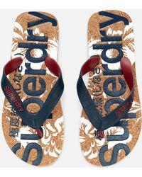 Superdry - Printed Cork Flip Flops - Lyst