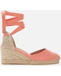 Castaner Carina Wedged Espadrille Sandals - Orange