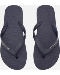 Armani Exchange - Solid Flip Flops - Lyst