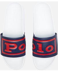 Polo Ralph Lauren Cayson Slide Sandals - White