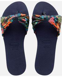 Havaianas Saint Tropez Slide Sandals - Blue
