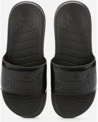 PUMA Popcat 20 Slide Sandals - Black