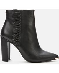 Ted Baker Frillil Leather Ankle Boot - Black