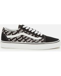 Vans Old Skool Logo Repeat Sneakers - Black
