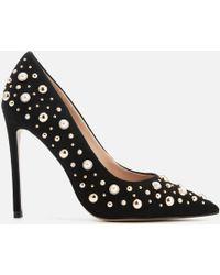 Carvela Kurt Geiger - Alabaster Suede Embellished Court Shoes - Lyst
