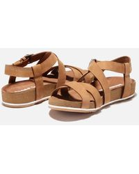 Timberland Malibu Waves Double Strap Sandals - Brown