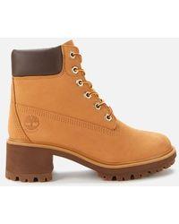 Timberland Kinsley 6 Inch Waterproof Heeled Boots - Brown