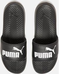 Lyst - PUMA Popcat Slide Vr Casual Sandals in Black df9709f51