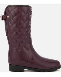 HUNTER - Refined Gloss Quilted Short Wellies - Lyst