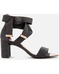 Ted Baker - Noxen 2 Suede Block Heeled Sandals - Lyst