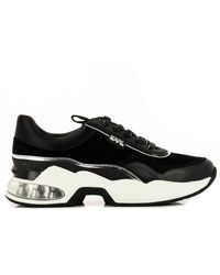 Karl Lagerfeld Ventura Lazare Velvet Lace Sneakers - Black