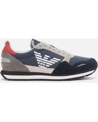 Emporio Armani Colour Block Low-top Sneakers - Blue