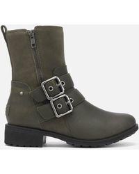 UGG Wilde Buckle Biker Boots Boots - Grey