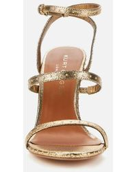 Kurt Geiger Portia Leather Heeled Sandals - Metallic
