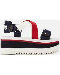 Tommy Hilfiger Sporty Neoprene Flatform Sandals - Multicolor