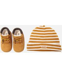Timberland - Baby's Crib Booties With Hat Gift Set - Lyst