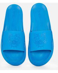 KENZO Tiger Pool Slide Sandals - Blue